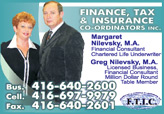Margaret & Greg Nilevsky Financial Consultants